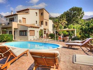 Komfortable Villa mit Pool und Meerblick in Plakias.
