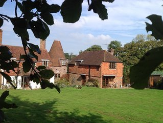 Self Catering B&B .Dog friendly with 13 acres of grass and woodland.Tennis court