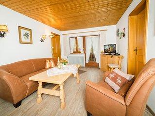 Ferienwohnung -Hochfelln- (55 qm), Balkon, Kuche extra, 2 Schlaf- und 1 Wohn-/Sc