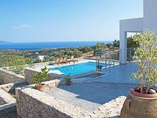 Schöne Villen Noro Villas bei Agia Galini auf Kreta für 4 Personen mit Pool und