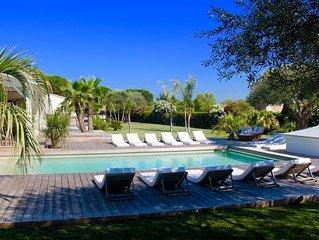 St Tropez très belle Villa de plein pied, proche plages et village de St Tropez