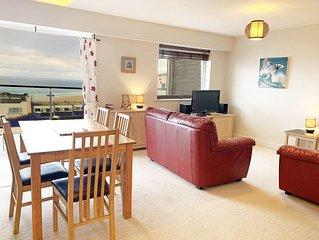 Pentewan is a 2 bedroom coastal apartment overlooking Fistral Beach