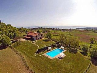 Schöne Ferienwohnung in exklusivem Landhaus am Gardasee mieten max. 10 Personen