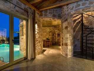 Mint Tower Luxury Stone Tower Villa In The Middle Of Nature With Stunning View
