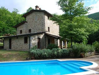 3 Bedroom Farmhouse with Private Pool in secluded position with great views