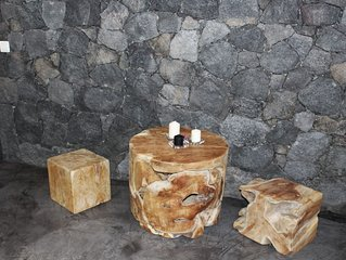 Cave Room (ex-tank) with volcanic rock