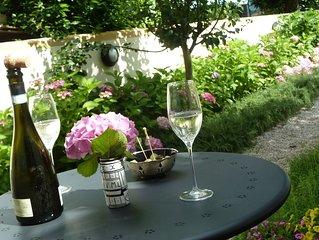 Casa singola con giardino e vista Villa dei Vescovi nel cuore dei Colli Euganei