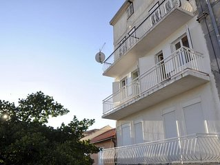 Two bedroom apartment with terrace and sea view Rab (A-14504-a)