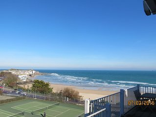 Harbour View Apartment has stunning views of St Ives harbour and beaches.