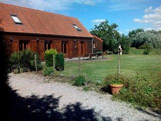 Saint Omer, au coeur du Marais audomarois, maison pour 6 personnes.