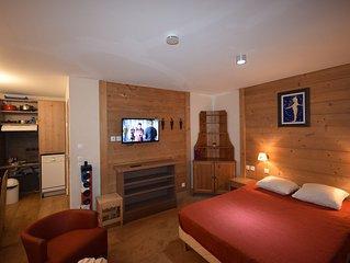 2Studio 4* - Piscine - Sauna - Wifi - 30m² - Super équipé - Pied des pistes