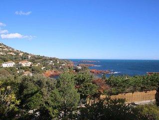 Agay- Saint Raphaël Mas Jumelé vue mer