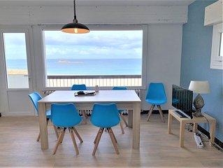 Appartement 2 chambres avec superbe vue mer sur la plage de Trestrignel  à PERRO