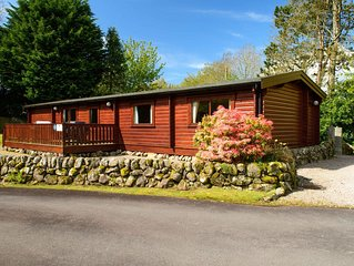 Luxury log cabin holiday rental set in beautiful, private deveopment