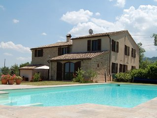 Beautiful restored stone house in peaceful location with swimming pool