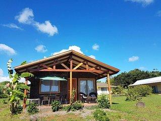 Cabañas honu iti en  Isla de pascua,  Rapa Nui, Easter island