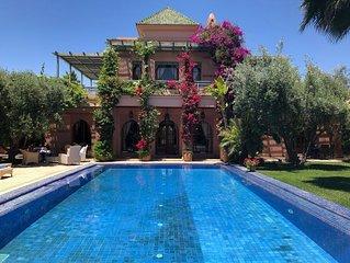 Magnifique Villa d'Architecte dans la Palmeraie de Marrakech - DAR SHAMSI