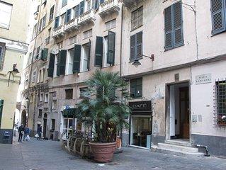 Una dimora settecentesca nel cuore del centro storico pedonale di Genova