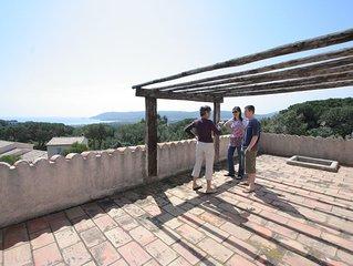 PROMO Etage complet d'une villa à Pampelonne dans la verdure et vue sur la mer !
