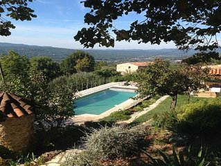 Annex of traditional Provencal stone farmhouse with lovely views.