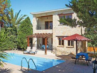 Characterful stone-faced villa with pool & BBQ, plus mature garden offering priv