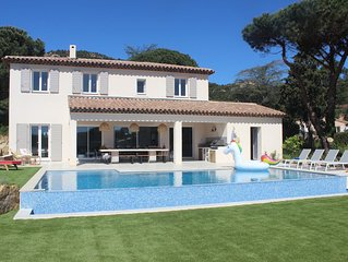 Luxury villa, fully air-conditioned, new 5 bedroomed villa with heated pool.