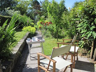 A stylish retreat for couples, with pretty cottage garden