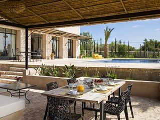 Villa standing 5 chambres piscine chauffée personnel de maison