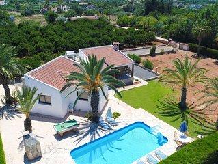 Maria Latchi: Private villa with pool above Latchi, sea views, a few minutes fro