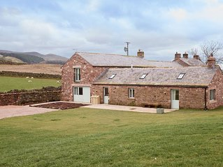 A converted farmhouse stables, boasting views all the way to the Lake District.