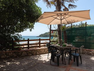 Chalet with terrace and exclusive access on the beach