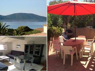 Appartement climatisé avec  vue sur Mer - 100m de la plage - Magnifique Terrasse