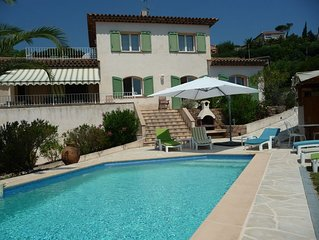 Villa: Mandelieu LaNapoule, Air Conditioning, Private Pool, Sea, Esterel Views,
