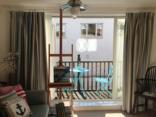 Unwind at the Beach House, with private parking very close to the sea.