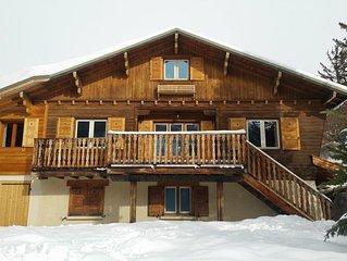 chalet traditionnel 10 (12) pers à 6' des pistes local à ski parking