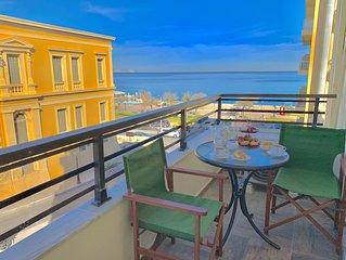 Blue Elegance Sea View City Center Heraklion Apartment - AMA ************