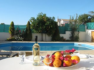 Villa with Private Pool, 50m to Beach, Wifi, A/C, All Amenities
