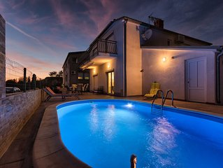 Pleasant family house with the pool and animations for the children