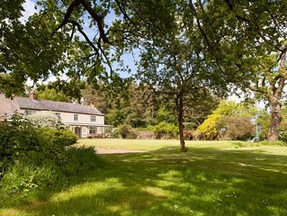 Gogwell: Unique Devon house with heated pool sleeps 12 +