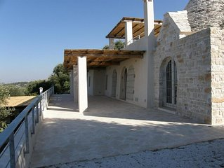 Stunning  Trullo with very large pool and Amazing Sea View  - Free WiFi