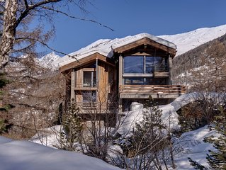 Luxury family chalet in tranquil setting but close to ski lift and town centre.