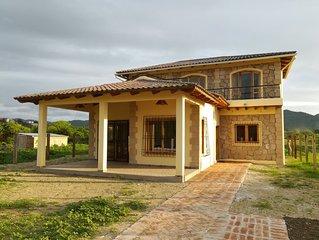 Casa vacacional en la costa ecuatoriana.