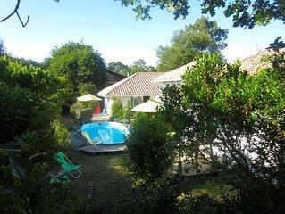 demie-villa plain pied  au bord de l'océan avec piscine