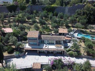 modern luxury villa with pool and view on hills - Pietrasanta & Forte dei Marmi