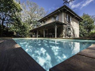 Superbe Villa ' Casa Manuela' avec piscine au Moulleau, plage a 250m - Arcachon