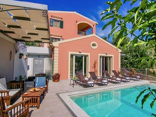 Brand new villa with private pool perfectly located close to Corfu town and sea