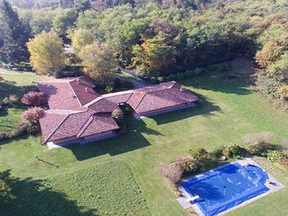Villa with pool,woods and garden