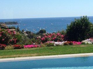 Villa contemporaine, vue exceptionnelle mer et Estérel