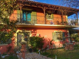 Kefalonia villas: 3 bedroom charming traditional Greek house in lovely garden.