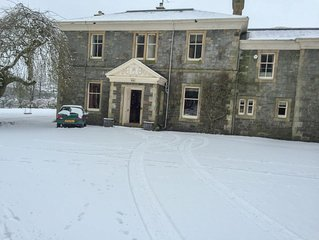 Grand country house on the banks of River Dee, sleeps 12